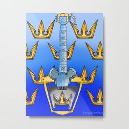 Keyblade Guitar #17 - Kingdom Key Metal Print