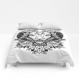 Dark Goat (white) Comforters