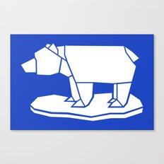 Origami Polar Bear Canvas Print