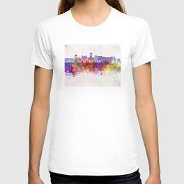 Saint Etienne skyline in watercolor background T-shirt