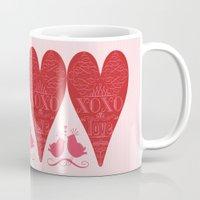 xoxo Mugs featuring XOXO by Luscious Life Studios