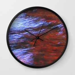 Citylights: Hong Kong Harbour #7 - CENTER - Triptychon Wall Clock