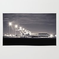airplane Area & Throw Rugs featuring Airplane by Marose Photo