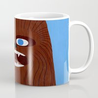 chewbacca Mugs featuring Chewbacca by Jack Teagle