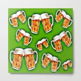 Green beers forever Metal Print