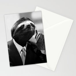 Gentleman Sloth smoking a cigarette Stationery Cards