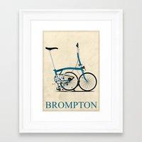 brompton Framed Art Prints featuring Brompton Bike by Wyatt Design