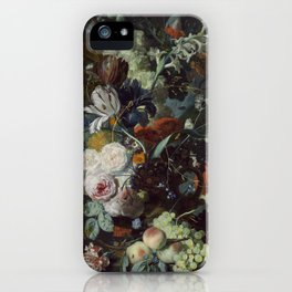 Jan van Huysum Still Life with Flowers and Fruit iPhone Case