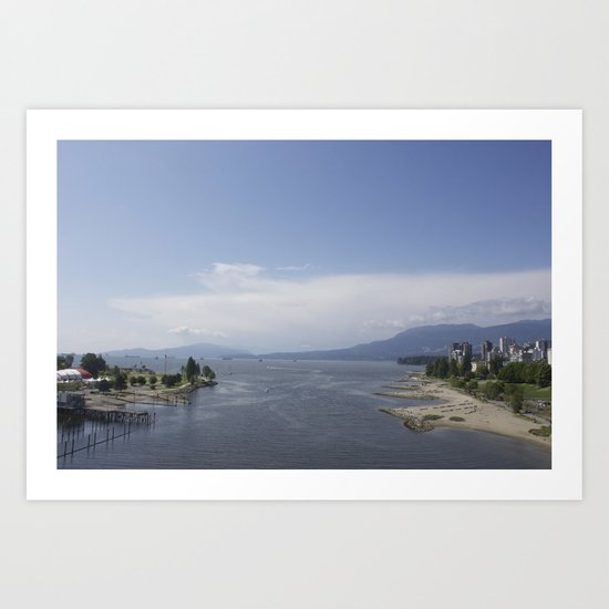 Vancouver from the Burrard Bridge Art Print