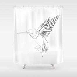 """Animals Collection"" - Humming bird Shower Curtain"