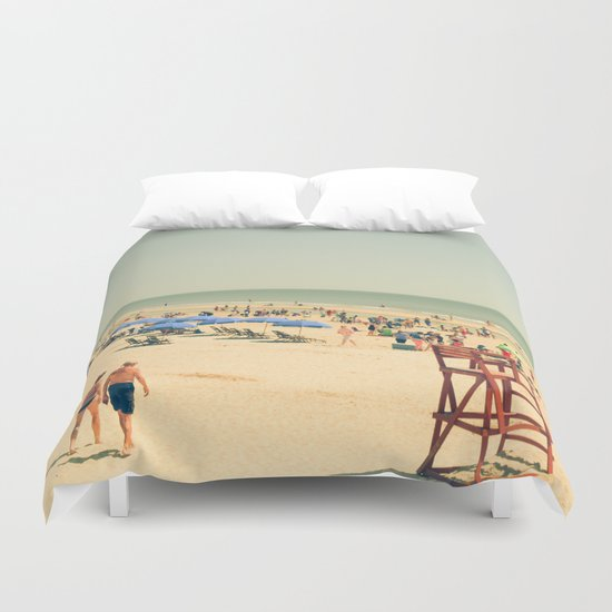 Beach People Duvet Cover