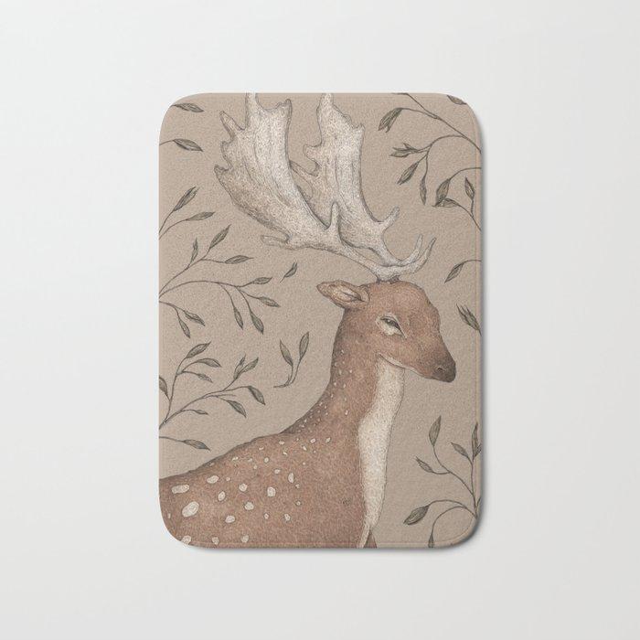 The Fallow Deer and Oats Bath Mat