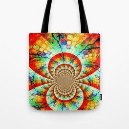 Fractal Suns Converging Tote Bag