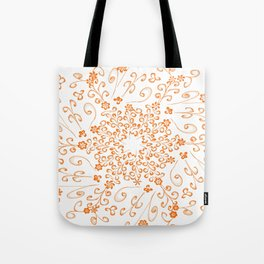 butterfly and flower frac Tote Bag