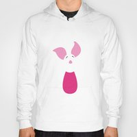 winnie the pooh Hoodies featuring Winnie the Pooh - Piglet by TracingHorses