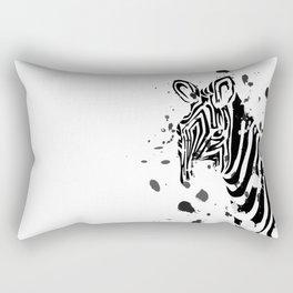 Ink Zebra Rectangular Pillow