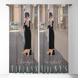 Audrey Hepburn Breakfast At Tiffany Movie Poster Blackout Curtain