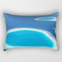 Blue Ocean White Sand Lagoons Maldives Island Paradise Rectangular Pillow
