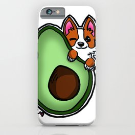 Avocado Corgi iPhone Case
