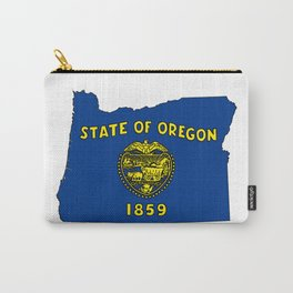 Oregon Map with State Flag Carry-All Pouch