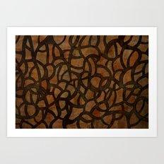 Dark Tangled Vines Art Print