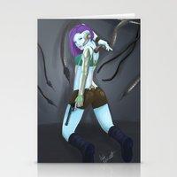cyberpunk Stationery Cards featuring Cyberpunk by GrazilDesign