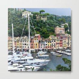 Portofino Harbour Italy Metal Print