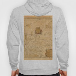 Map Of New Hampshire 1784 Hoody