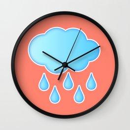 My Rainy Cloud Wall Clock