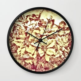 Christmas bouquet- vintage Wall Clock