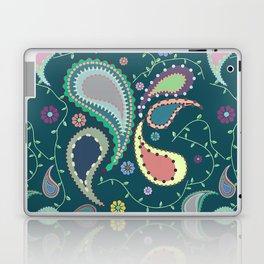Boho Paisley on Blue Laptop & iPad Skin