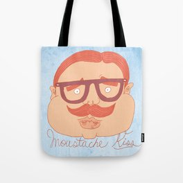 Moustache kiss Tote Bag