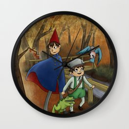 As Autumn Colors Fall Wall Clock