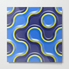 Curve pattern Metal Print