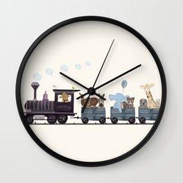 little nature train Wall Clock