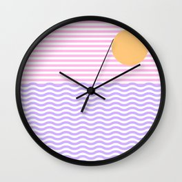 Coastline (Sunset Pink) Wall Clock