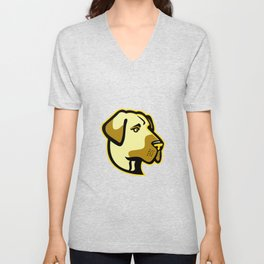 Anatolian Shepherd Dog Mascot Unisex V-Neck
