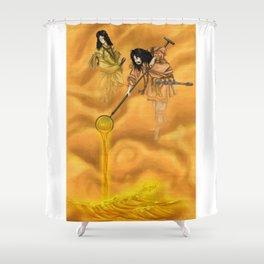 Gurasu Gods Shower Curtain