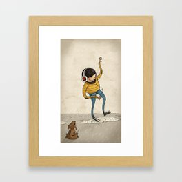 Hipster & Pet Framed Art Print
