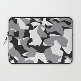 Camouflage Splinter Pattern Grey Laptop Sleeve