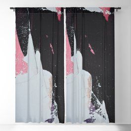 Profoundly [2]: a vibrant abstract piece in blues magenta and orange by Alyssa Hamilton Art Blackout Curtain