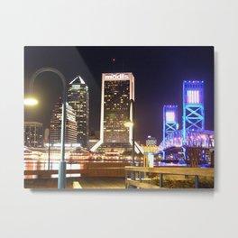River City Lights Metal Print