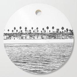 Vintage Newport Beach Print {4 of 4}   Photography Ocean Palm Trees B&W Tropical Summer Sky Cutting Board