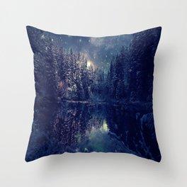 Winter Forest Deep Pastel Throw Pillow