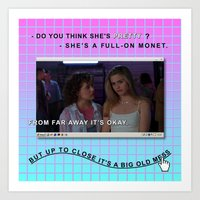 clueless Art Prints featuring Clueless x Monet by Lisa-Roxane Lion