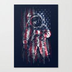 Astronaut Flag Canvas Print