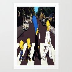 bea(tles)mpson Art Print