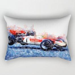 Graham Hill, Nurburgring jump Rectangular Pillow