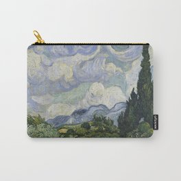 Wheatfield with Cypresses Carry-All Pouch
