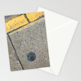 Blue Water Yellow Line Stationery Cards